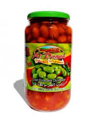 Al Dayaa Green Olives with Hot Pepper
