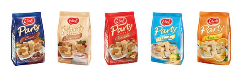 Elledi Party Wafers 250g (chocolate, cappuccino, hazelnut, vanilla or orange)
