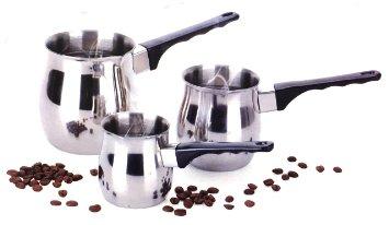 Stainless Steel Turkish Coffee Warmer 3 Piece Set